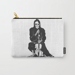 Violinist skull - grim reaper - cartoon skeleton - halloween illustration Carry-All Pouch