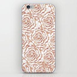 Elegant romantic rose gold roses pattern image iPhone Skin