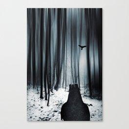 dark promise - raven Canvas Print