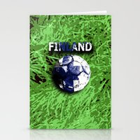 finland Stationery Cards featuring Old football (Finland) by seb mcnulty