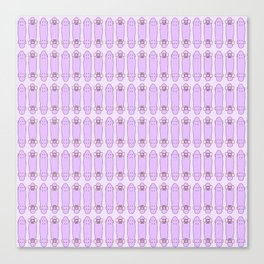SKATEBOARDS ((pink and purple)) Canvas Print
