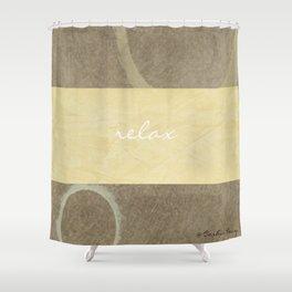 Relax Modern Art w/ Signature Shower Curtain