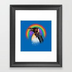 Zombie Penguin Framed Art Print