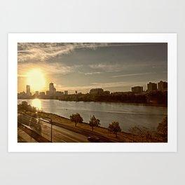 Charlie The River Art Print