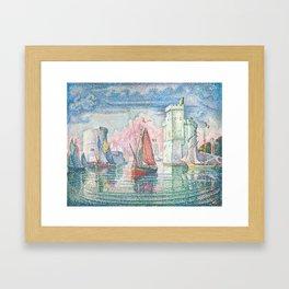 The Port Of La Rochelle, Paul Signac, 1921 Framed Art Print