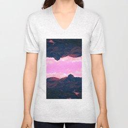 Landscape of Lakes Unisex V-Neck