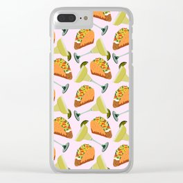 Tacos y Margaritas Pattern Clear iPhone Case
