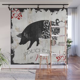 French Farms Pig Wall Mural