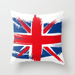 Sketched Union Jack Throw Pillow
