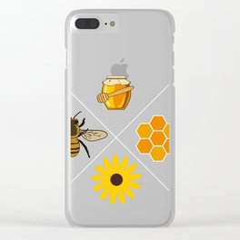 Beekeeper Honey Gift Idea Bee Design Clear iPhone Case