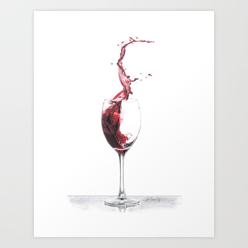 Red Wine Art Print By Giorgioarcuri Society6