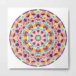 Universe Style Mandala Metal Print