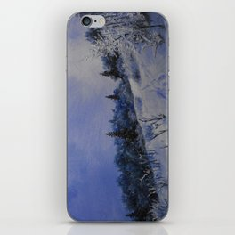winter first comes in the mountain  iPhone Skin
