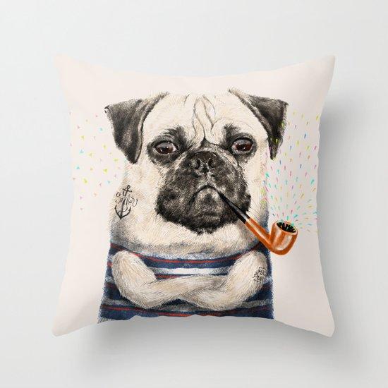 Mr.Pug Throw Pillow