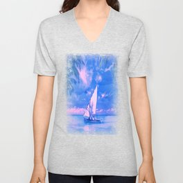 Tropical yachting Unisex V-Neck