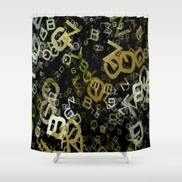 Pale Yellow Poinsettia 1 Letters 3 Shower Curtain