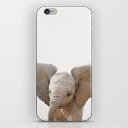 Baby Elephant, Baby Animals Art Prints by Synplus iPhone Skin