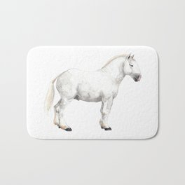 Boulonnais Draft Horse Bath Mat