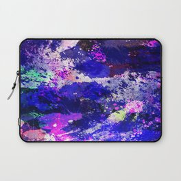 Freedom - Abstract In Blue And Purple Laptop Sleeve