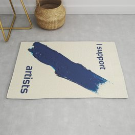 I Support Artists T-Shirt and Stationery Cards Rug