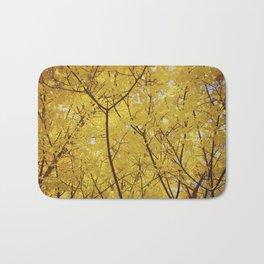 Colorado Autumn in Yellow Bath Mat