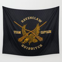 ravenclaw Wall Tapestries featuring Ravenclaw quidditch team iPhone 4 4s 5 5c, ipod, ipad, pillow case, tshirt and mugs by Three Second