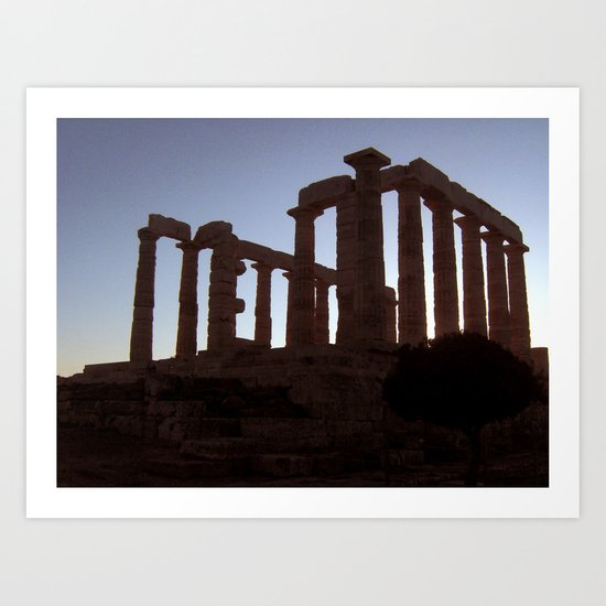 Temple of Poseidon Art Print