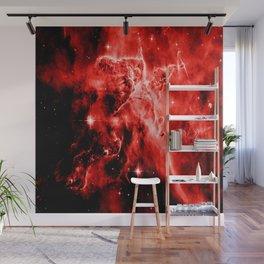 galAXY. Red Mystic Mountain Nebula Wall Mural