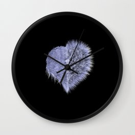 Dark Heart Wall Clock
