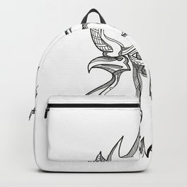 Junglefowl Head Doodle Art Backpack