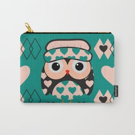 Owl and heart pattern Carry-All Pouch