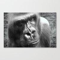 gorilla Canvas Prints featuring Gorilla by GrOoVy Photo Art
