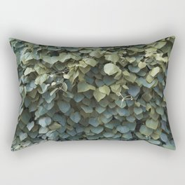 Green Leaves at the End of Summer Rectangular Pillow