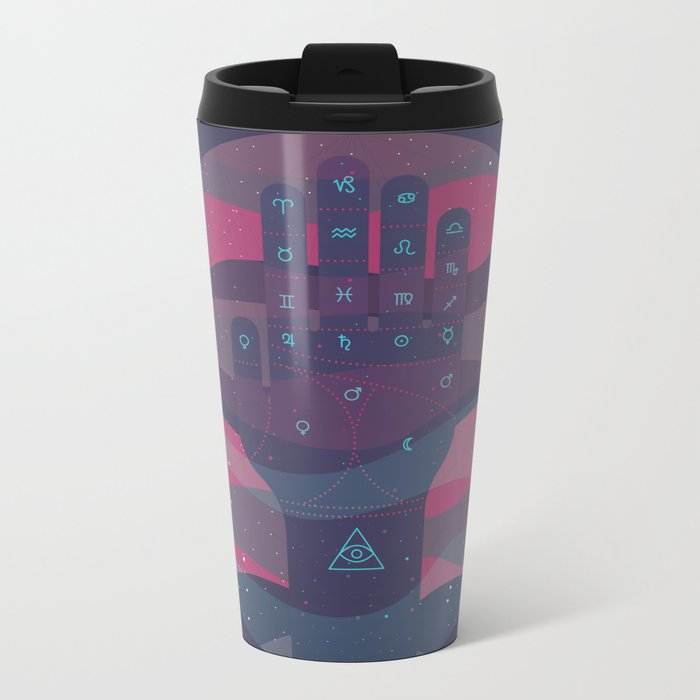 HEY BABY, WHAT'S YOUR SIGN, I'M A GEMINI Metal Travel Mug