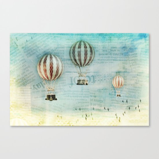 drifting _ hot air balloons Canvas Print