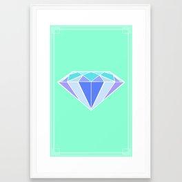 Blue Ice   Diamond Framed Art Print