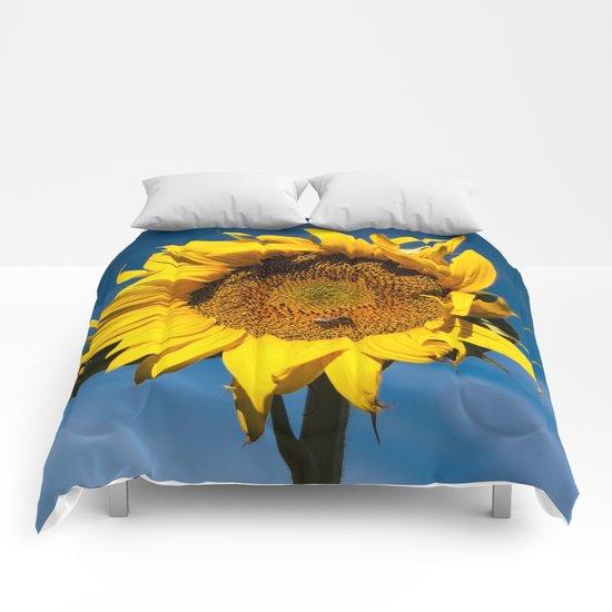 Sunflower in LOVE Comforters