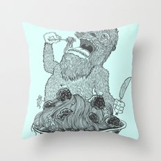Yeti Spaghetti Throw Pillow