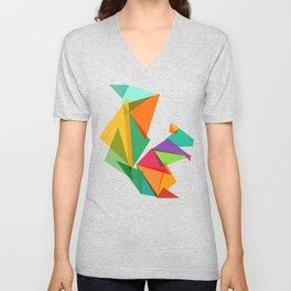 Fractal geometric Squirrel Unisex V-Neck