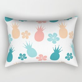 cute colorful pattern with pineapples and flowers Rectangular Pillow