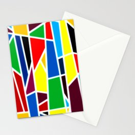Geometric Shapes - bold and bright Stationery Cards