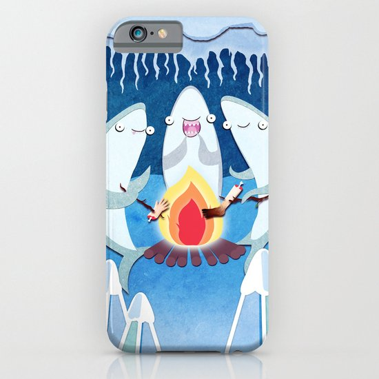 A Shiver of Sharks iPhone & iPod Case