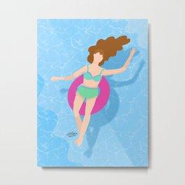 Summer at the pool 2/6 Metal Print