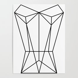 White Corset Poster