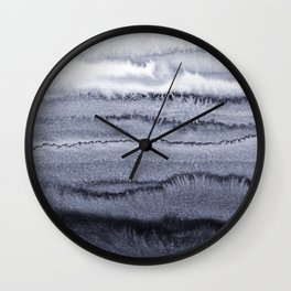 WITHIN THE TIDES - VELVET GREY Wall Clock