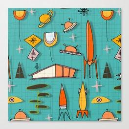 Space Age Blues #spaceage Canvas Print