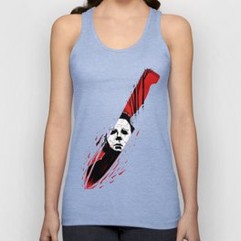 Hell-O-Ween Myers knife Unisex Tank Top
