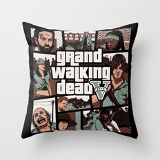 Grand Walking Dead Throw Pillow