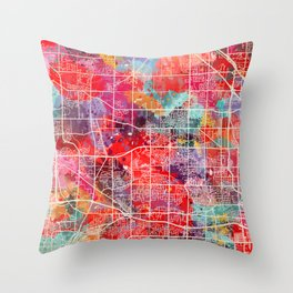 Brookfield map Wisconsin WI 2 Throw Pillow