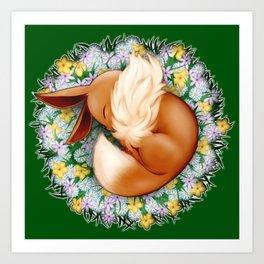 Peaceful Sleep (Eevee) Art Print